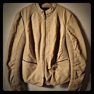 Bagatelle Beige Faux Leather Jacket Size Small